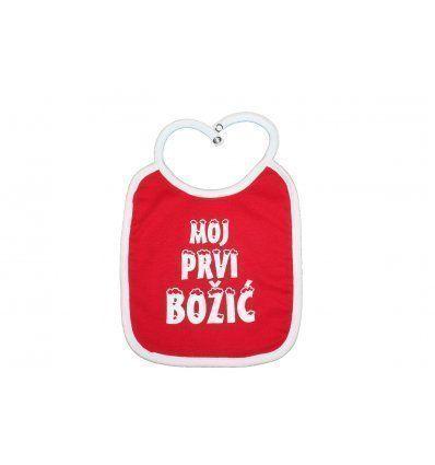 """Podbradnik crveni """"Moj prvi Božić"""""""