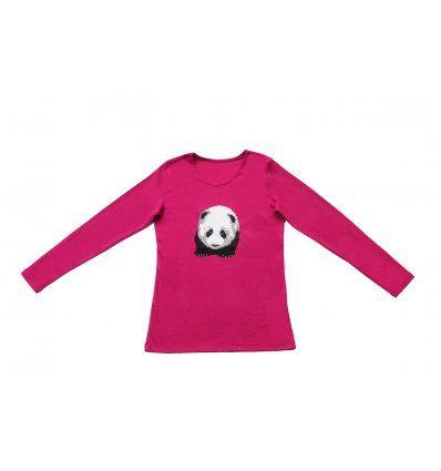 Majica uska fuksija - Panda