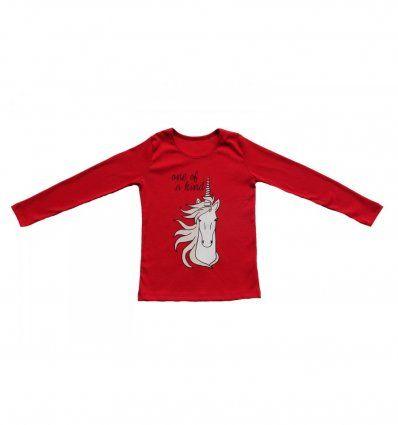 Majica uska crvena - Jednorog