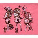 Majica uska boje marelice - Cure sa kišobranima