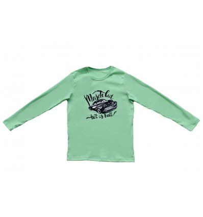 Majica svjetlo zelena - Muscle car