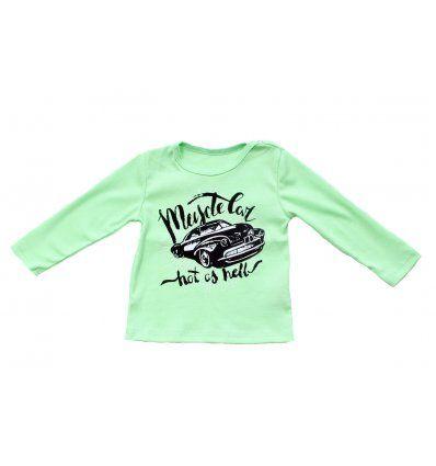 Baby majica svjetlo zelena - Muscle car