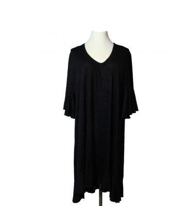 Haljina sa volanima crna