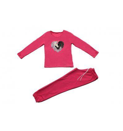 Pidžama pastelna marelica - Jednorog
