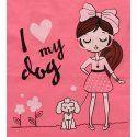 Majica boje breskve - I love my dog