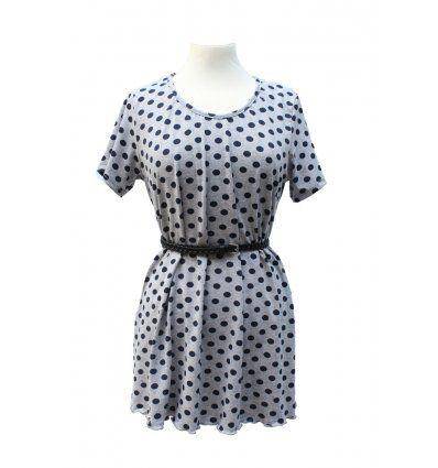 Točkasta tunika-haljina sa kratkim rukavima