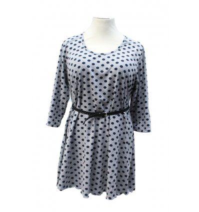 Točkasta tunika-haljina sa 3/4 rukavima