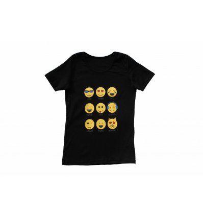 Majica crna - Smajlići