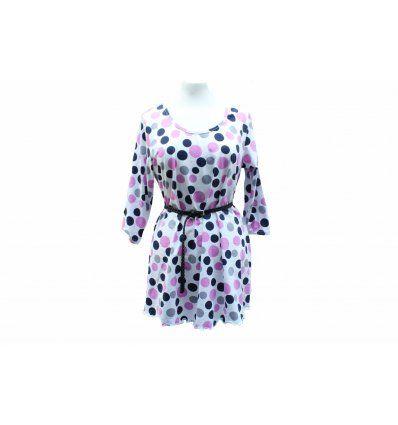 Tunika-haljina Pinky Dot - 3/4 rukavi