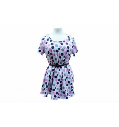 Tunika-haljina Pinky Dot - kratki rukavi