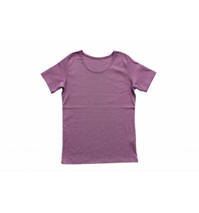 Majica kratkih rukava prljavo ljubičasta