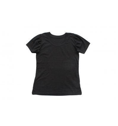 Majica kratkih puf rukava crna