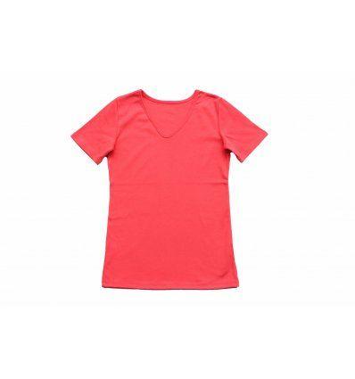 Majica kratkih rukava boje breskve -...