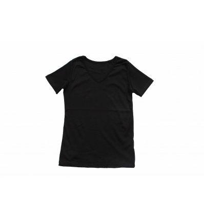 Majica kratkih rukava crna - V izrez
