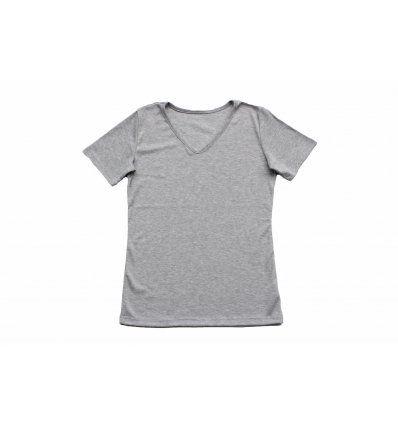 Majica kratkih rukava svijetlo siva -...