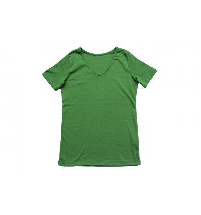 Majica kratkih rukava tamno zelena -...