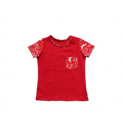 Majica sa džepićem - crvena