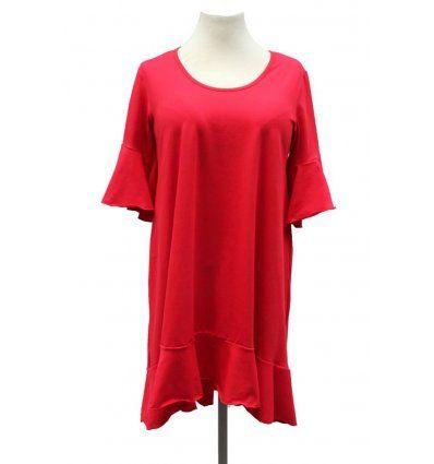 Haljina sa volanima crvena