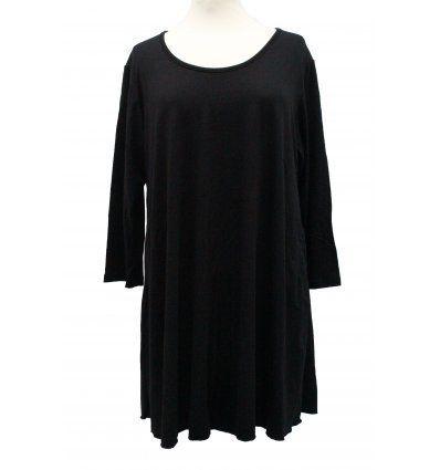 Tunika Ivana - crna pamučna