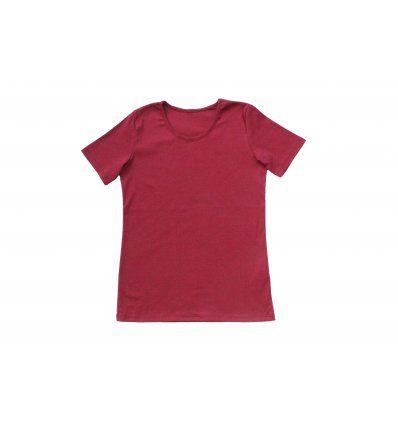 Majica uska kratki rukav bordo