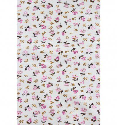 Tunika bijela sa cvjeticima - kratkih...