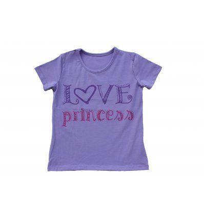 Majica lila - kratkih rukava - Love...