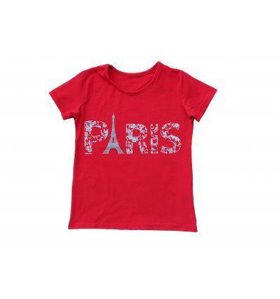 Majica crvena - kratkih rukava - Paris