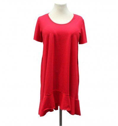 Haljina sa volanima crvena - kratkih...