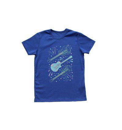 Majica kraljevsko plava - kratkih...