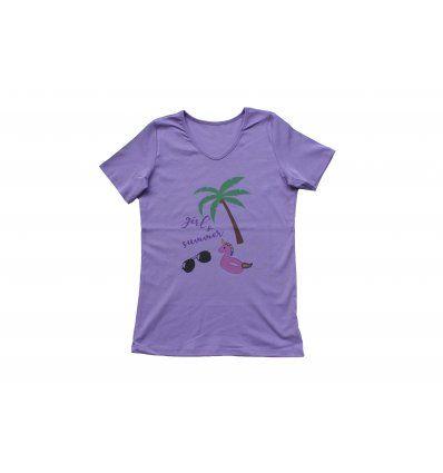 Majica ljubičasta - Girl's summer