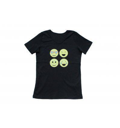 Majica crna - Smiley