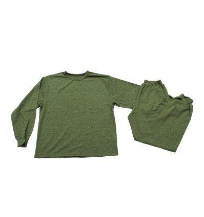 Pidžama melanž zelena
