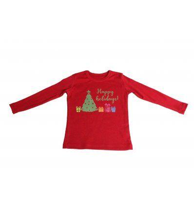 Majica dugih rukava crvena - Happy...