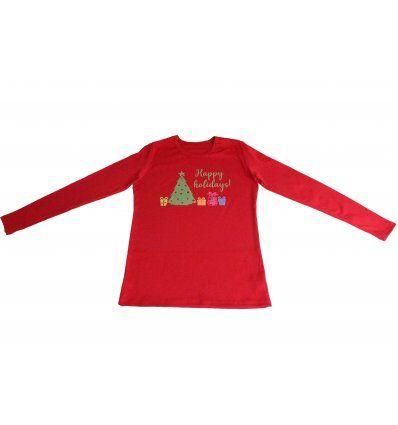 Majica crvena - Happy holidays