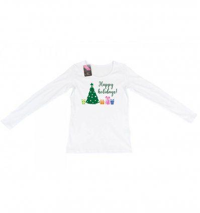 Majica bijela - Happy holidays
