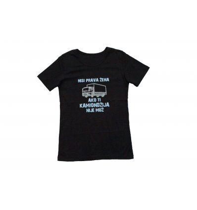 Majica crna - Nisi prava žena ako ti...