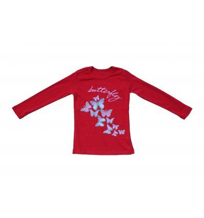Majica dugih rukava crvena - Butterfly