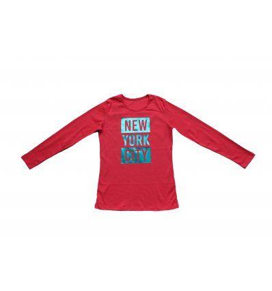 Majica boje marelice - New York City