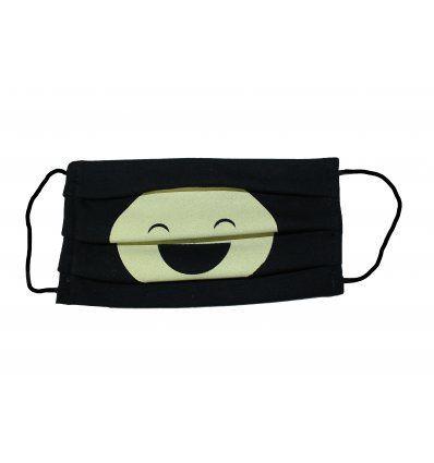 Pamučna maska za lice - Crna sa...