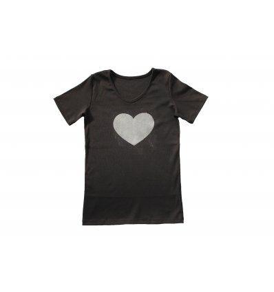 Majica crna - srce
