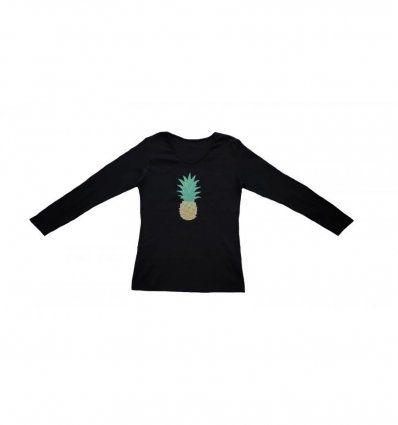 Majica crna - ananas