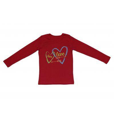 Majica dugih rukava crvena - Love