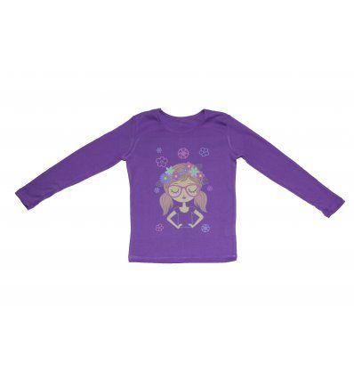 Majica dugih rukava ljubičasta - Cura