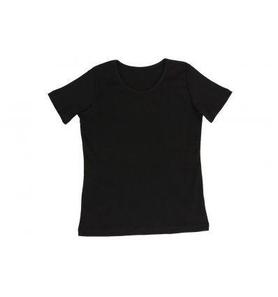 Majica uska kratki rukav crna
