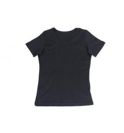 Majica uska kratki rukav tamno plava