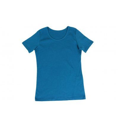 Majica uska kratki rukav svjetlo plava