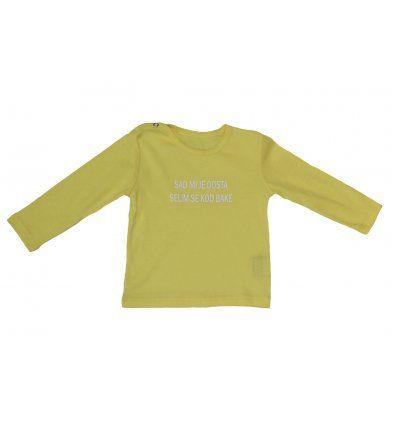 Baby majica žuta - sad mi je dosta