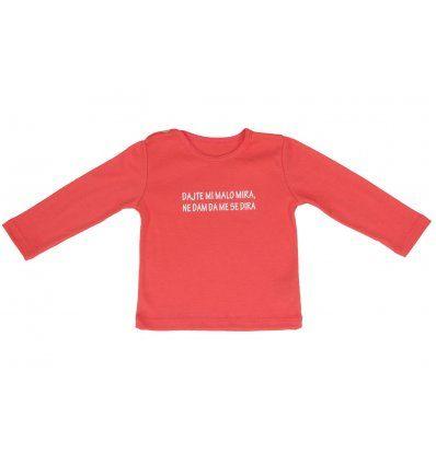 Baby majica breskva - dajte mi malo mira