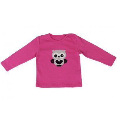 Baby majica roza - sovica