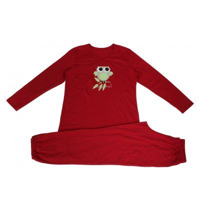 Pidžama crvena - sovica